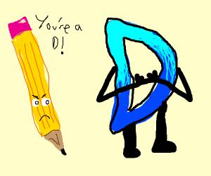 A pencil calling Drawception D.