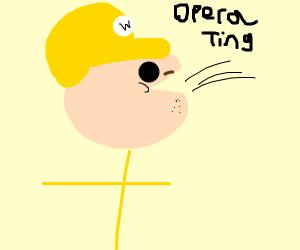 Wario is an opera singer
