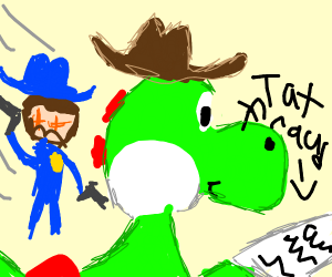 Yoshi in the Wild West