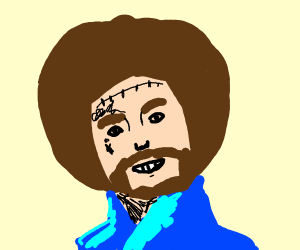 Bob Ross with Post Malone's tattoos