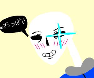 Sans as an Anime boi