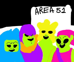 Me and the boys entering Area 51