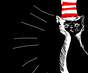 Cat in the hat mobster