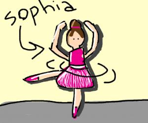 Sophia the ballerina
