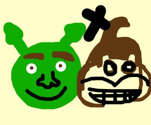 Shrek donkey kong mix