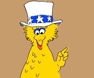 Uncle Sam Big Bird