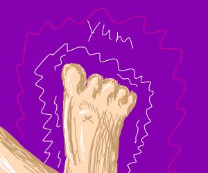 Foot fetish (oh no)