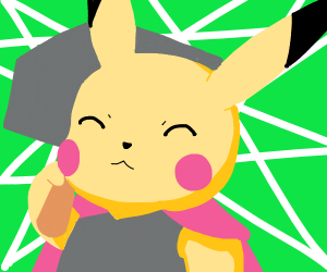 pikachu, the god of thunder (with mjolnir)