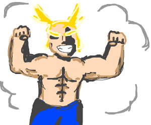 shirtless All Might (buff)