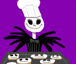 Chef Skellington made cookies