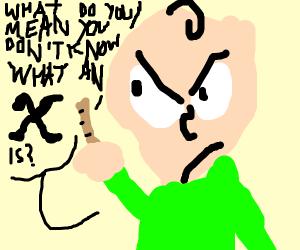 angry baldi