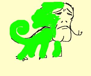 thicc chin sad lizard