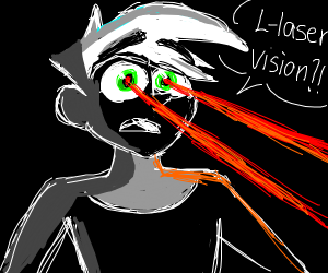 danny phantom has laser vision