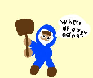Popo (Ice Climber) lost Nana :c