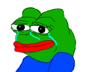 Happy Pepe, but he's sorry