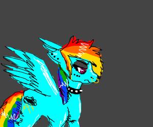 Rainbow Death (emo Rainbow Dash)