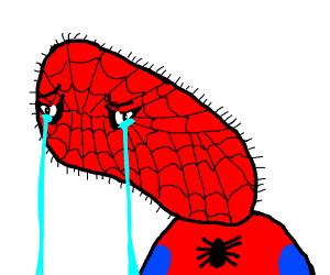 Spoderman crying