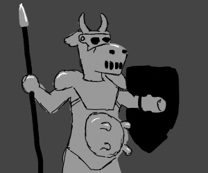 devilish cow knight