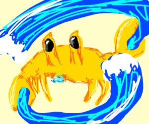 Golden crab is a water bender