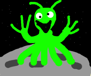 alien on the Moon