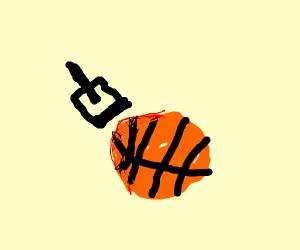 Stamping a basketball