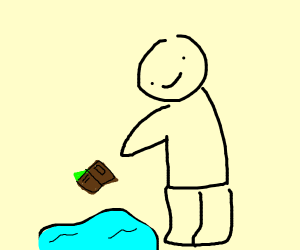 Dropping your wallet in a puddle