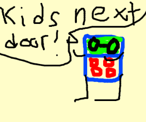 calculator that said Kids next door