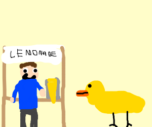 a duck walked up to the lemonade stand