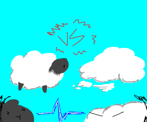 Fluffiness; sheep vs. cloud