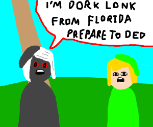 Lonk and dark lonk fight over being surperior