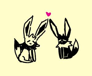 2 eevees in love