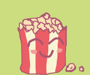 Happy Cute Popcorn :D