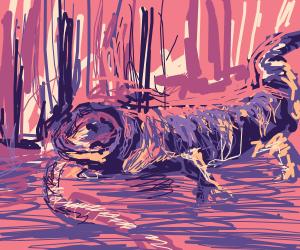 Hungry salamander