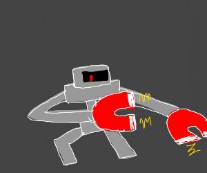 magnet hand robot