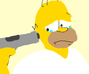 homer blows his brains out
