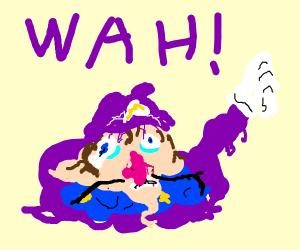 a big ol' puddle of waluigi