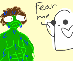 The Hulk gets spooked by a spirit