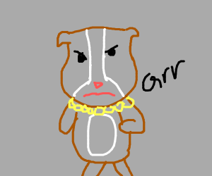 an angry hamster with gold chainzzz