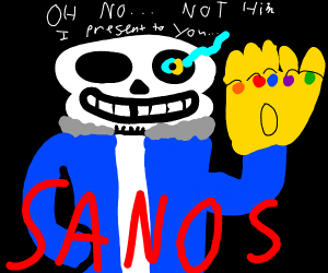 Sans and thanos has fused