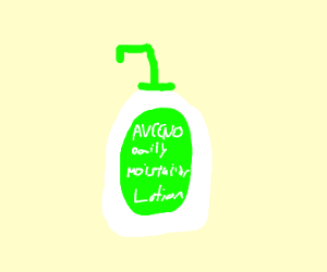 Aveeno brand lotion bottle with pump