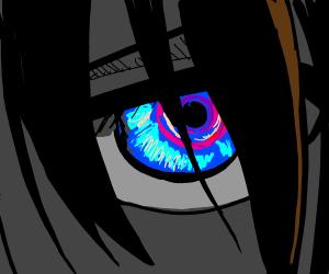 Brightly glowing eye