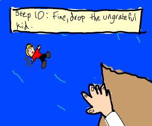 Step 9: kids reject saving