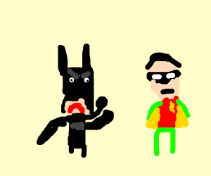 Batman is angry with Robin