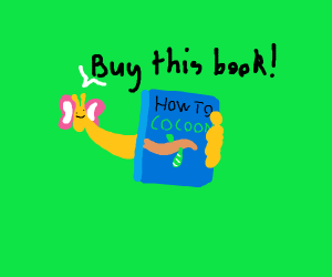 butterfly promoting a book