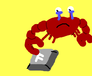 crab presses the f key