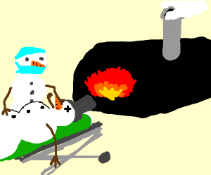 Snowman crematoriums