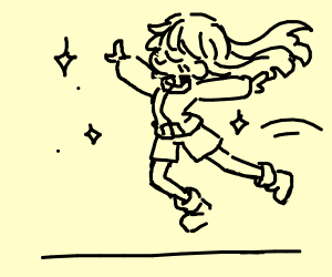 Girl jumps majesticly