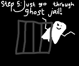 Step 4: Get put in ghost jail for haunting