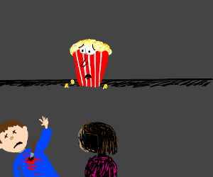 Popcorn watches murder