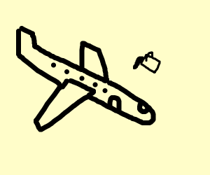 Drawing a plane on ms paint